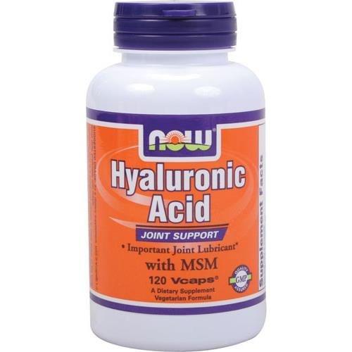 Ácido Hialurônico com MSM, Now Foods, 120 Vcaps