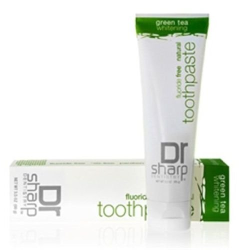 Creme Dental SEM FLÚOR Clareador, Chá Verde, Dr. Sharp, 99 g