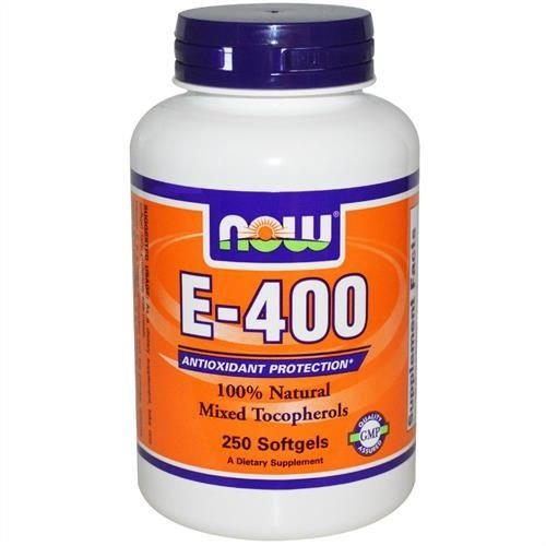Vitamina E-400 100% Natural, Now Foods, 400 IU, 250 Tablets