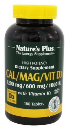 Cal-Mag-D3 Vitamina K2, Nature's Plus, 180 Tablets