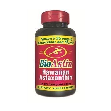 Astaxantina Natural, BioAstin, Nutrex, 4 mg, 120 Gel Caps
