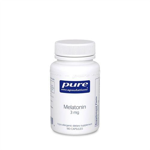 Melatonina, Pure Encapsulations, 3 mg, 180 Capsules