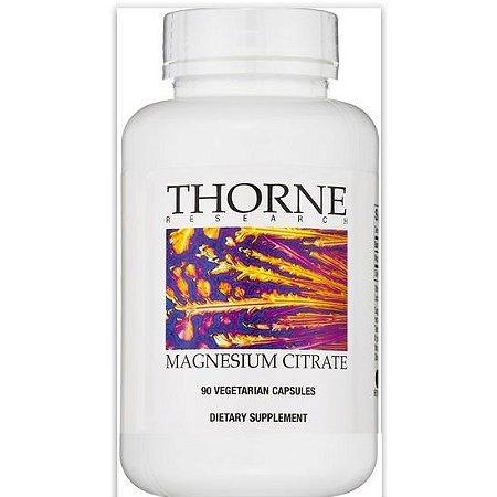 Citrato de Magnésio (Magnesium Citrate), Thorne Research, 90 Veggie Caps
