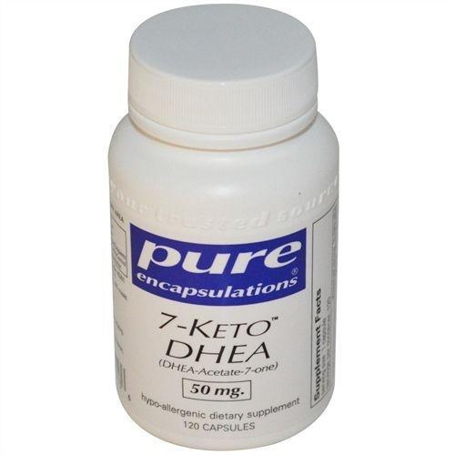 7- KETO DHEA, Pure Encapsulations, 50 mg, 120 Capsulas