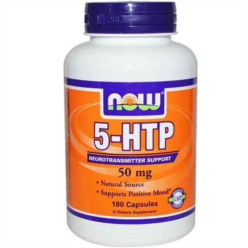 5-HTP Suporte Neurotransmissor, Now Foods, 50 mg 180 Cápsulas