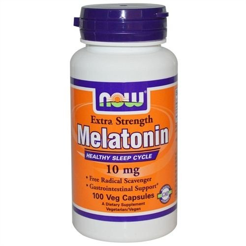 Melatonina, Now Foods, 10 mg, 100 Veggie Caps