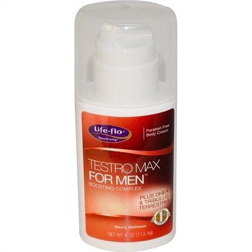 Testro Max para Homens, (Complexo DHEA, Tribulus, TongAli...), Life Flo Health, (113.4 g)