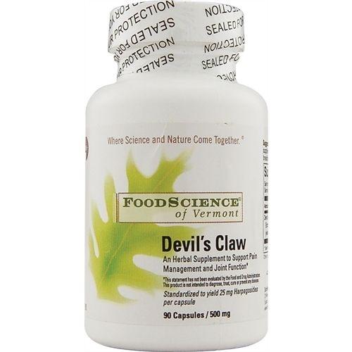 Garra do Diabo, FoodScience, 500 mg, 90 Capsules