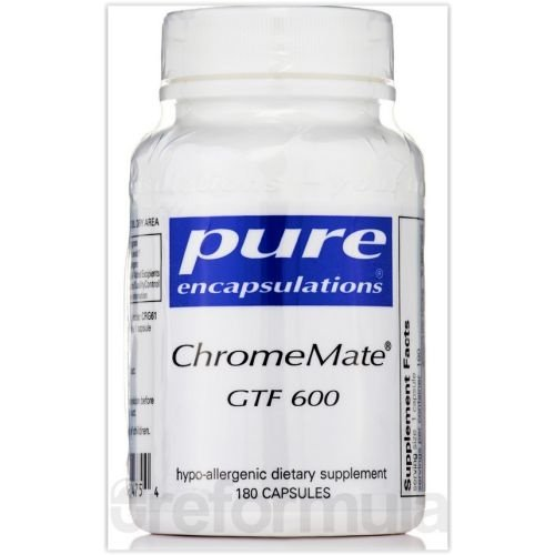 ChromeMate GTF 600(Picolinato de Cromo), Pure Encapsulations, 600mcg, 180 Capsules