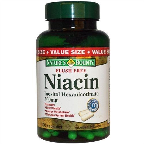 Niacina, Não-Flush, Nature's Bounty, 500 mg, 120 Capsules