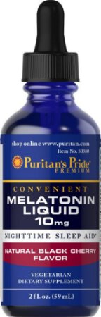 Melatonina Líquida, Puritan's Pride, 10 mg, 59ml