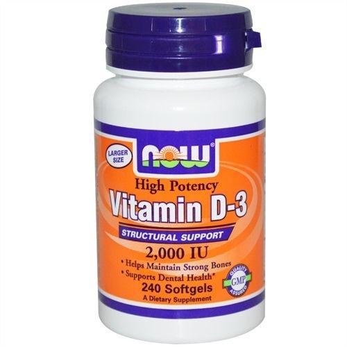Vitamina D3, Now Foods, 2.000 IU, 240 Softgels