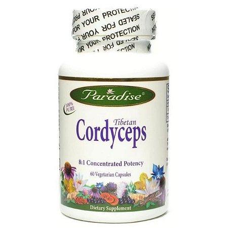 Cordyceps Tibetano, Paradise Herbs, 60 Veggie Caps