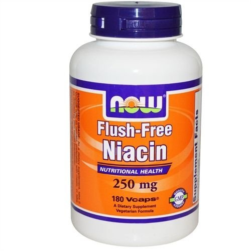 Niacina Non-Flush, Now Foods, 250 mg, 180 Vcaps