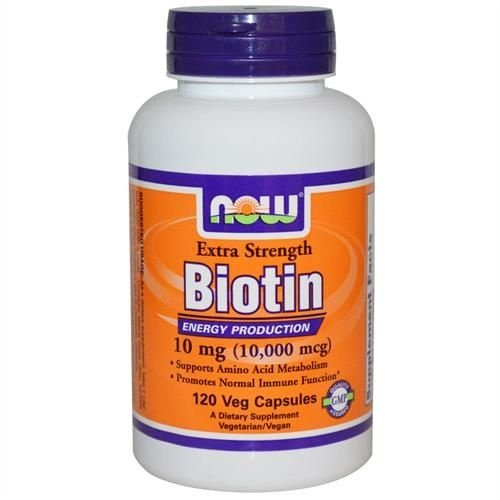 Biotina, 10 mg, Now Foods, 120 Capsulas