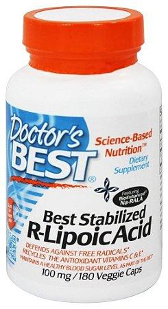 R-Ácido Alfa Lipoico, Best Stabilized, Doctor's Best, 100 mg, 180 Veggie Caps