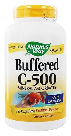 Vitamina C Buferizada, Buffered C-500, Nature's Way - 250 Capsulas