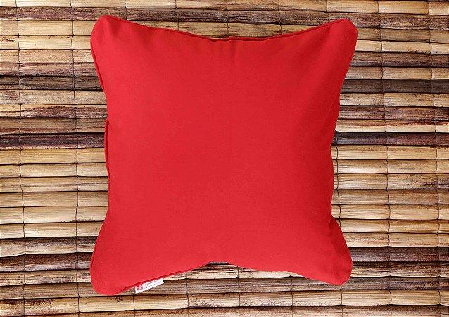 Almofada de Sarja Vermelha e Variações