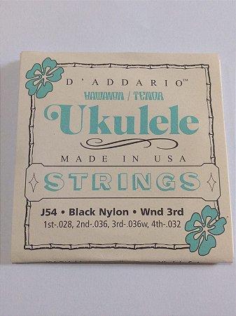 Corda para Ukulele Tenor J54 Black Nylon Wnd 3rd