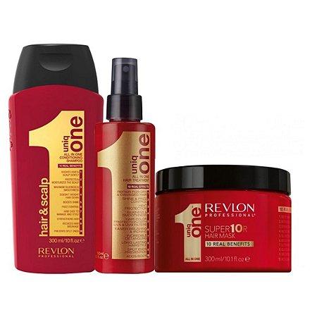 Kit Tratamento Revlon Professional Shampoo 300ml + Mascara 300ml + Leave-In 300ml