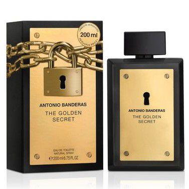 Perfume The Golden Secret Antonio Banderas Eau de Toilette Masculino 200 ml
