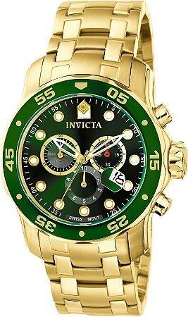 Relógio Invicta Masculino Pro Diver Dourado Modelo 0075