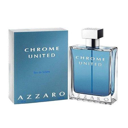 Perfume Azzaro Chrome United Masculino Eau de Toilette 100ml