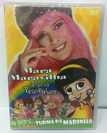 DVD - Mara Maravilha 4 dvd's e um livrinho