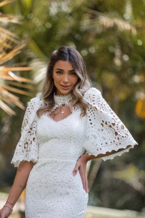 Vestido Midi Noiva Doce Maria França