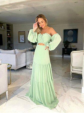 Vestido Fluído Jade