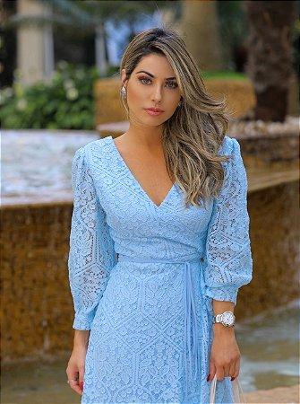 Vestido Midi Azul Serenity Sori