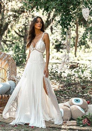 Vestido longo Branco Giovanna