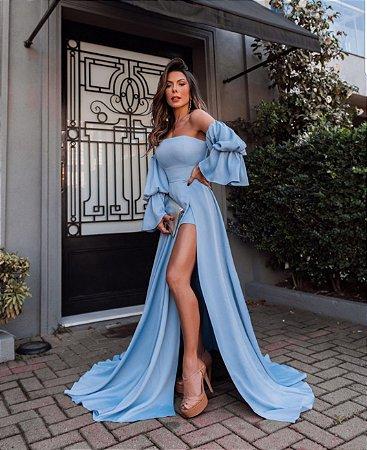 Vestido luxo Azul Serenity Magda