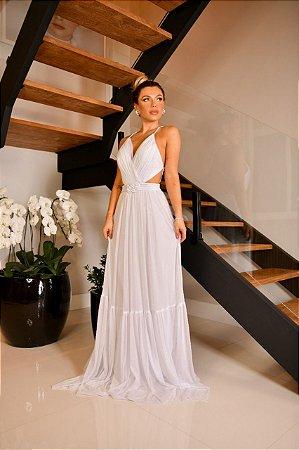 Vestido Branco Fluído Mary