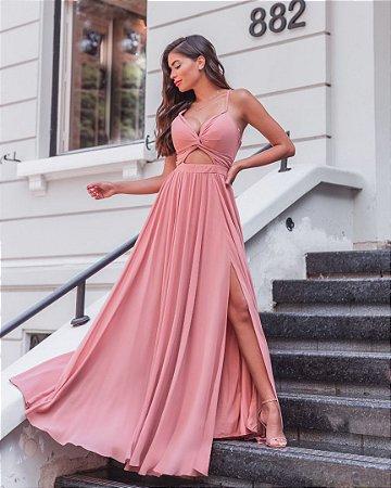 Vestido com Macramê Letícia