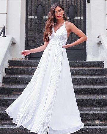 Vestido Longo Branco Karen