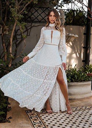 Vestido Longo Aisha Branco Doce Maria Win21