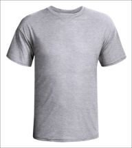 Camisa Cinza Mescla Personalizada