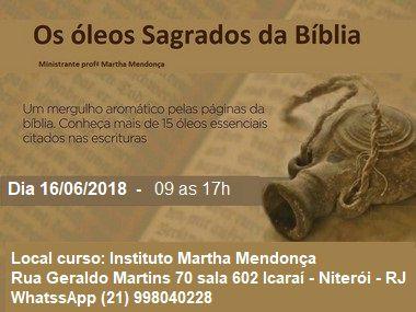 Inscrição Os  Óleos Sagrados da Bíblia