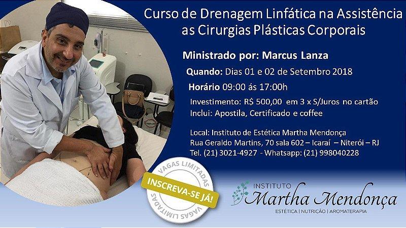 Inscrição: Curso de Drenagem Linfática aplicado na assistência em pós operatório corporal
