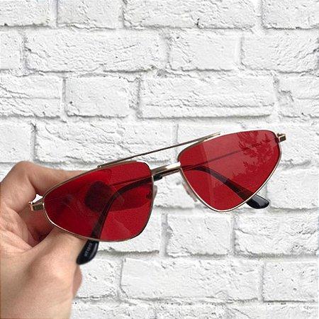 Óculos de Sol Sunglasses Retro Vermelho