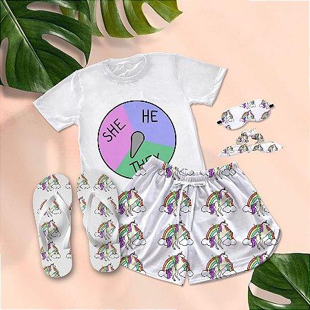 Conjunto Pijama They + Chinelo de dedo