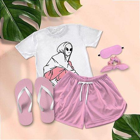 Conjunto Pijama Alien + Chinelo de dedo