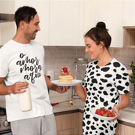 Combo Camisa + Camisola Personalizada O amor mora aqui