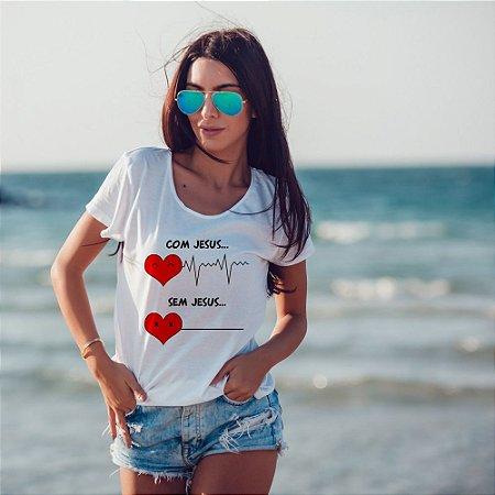 T-Shirt  com Jesus, Sem jesus!