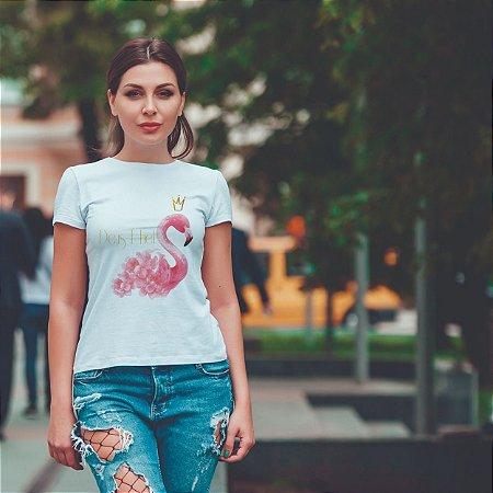 T-Shirt  Flamingo Deus é Fiel
