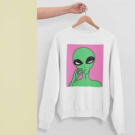 Moletom Peluciado Alien