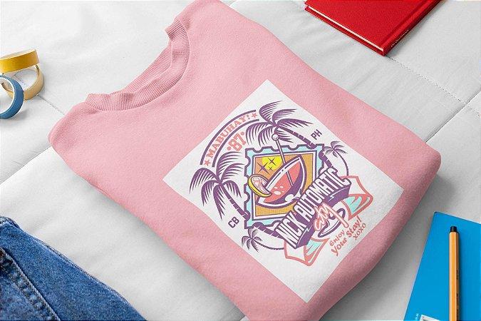 Moletom Peluciado Rosa Havai