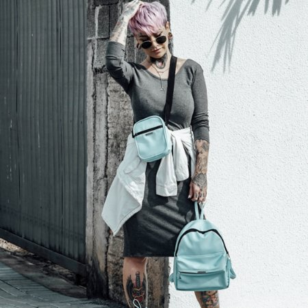Combo: shoulder bag mais mochila