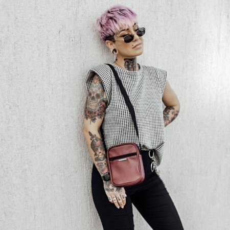 Bolsa Shoulder Bag Unissex Marsala